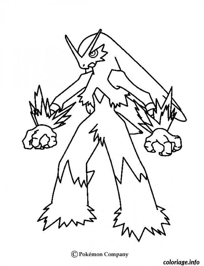Coloriage pokemon x ex 41 Dessin à Imprimer