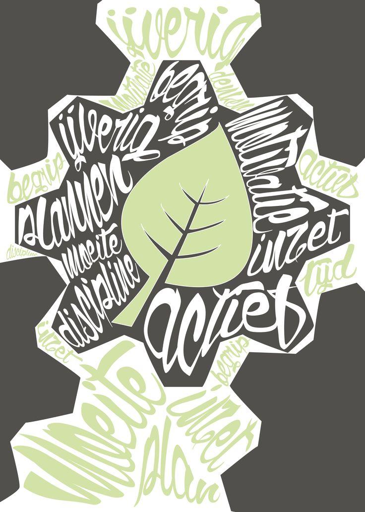 Fenne Koenraadt typografieposter