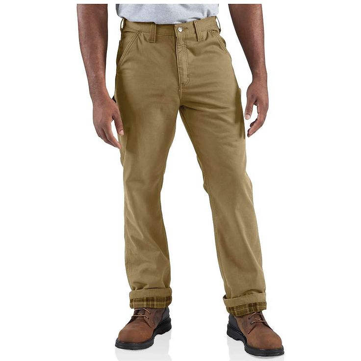 Carhartt Men's Washed Twill Dungaree Flannel Lined Pant