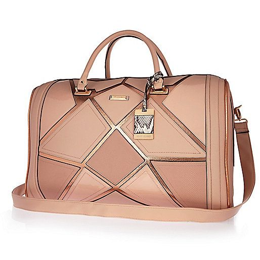 Pink patchwork weekend bag - make up bags / luggage - bags / purses - women