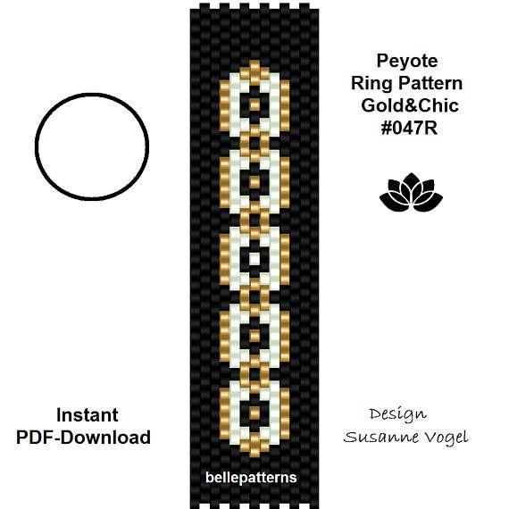 87 best peyote images on pinterest bead patterns beading patterns peyote ring patternpdf download 047r beading pattern beading tutorials ring pattern design pdf filedownloadbellepatternsdigital fandeluxe Gallery