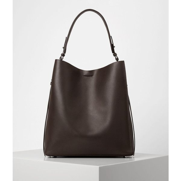 AllSaints Paradise North South Tote found on Polyvore featuring polyvore, women's fashion, bags, handbags, tote bags, prune, north south tote, allsaints, tote hand bags and tote handbags
