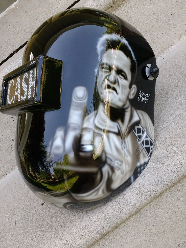 Johnny Cash Themed Welding Helmet