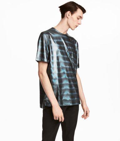 Coatad t-shirt   Svart/Metallic   Herr   H&M SE