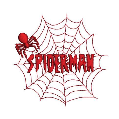SPIDERMAN WEB Machine Embroidery Design by StitcheryComplete