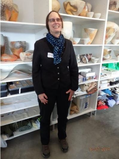 Another Introduction from Braidwood – Rughooking Australia_Gail-Nichols in her pottery studio