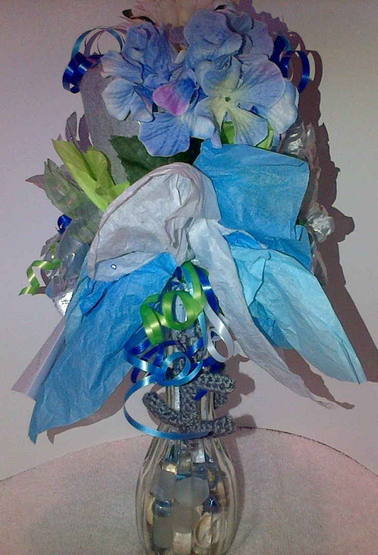 Right Side Close Up of Small Onesie Bouquet