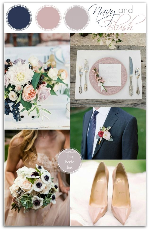 "Navy and Blush Wedding Ideas for Fall | Someday ""I will"". 