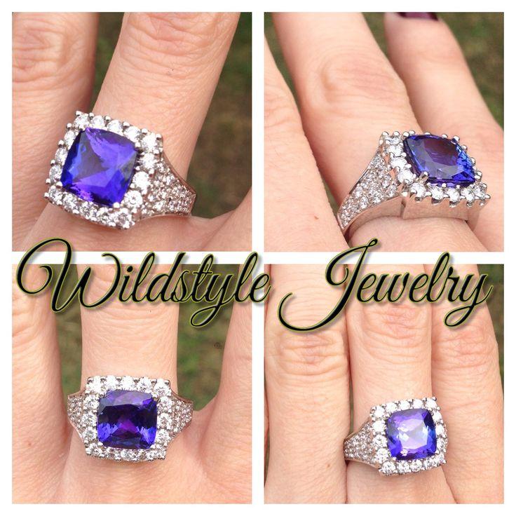 Wildstyle Jewelry original #tanzanite #ring #customdesign #customjewelry #diamonds #original #purple #Tanzania #gemstone contact wildstylejewelry@gmail.com for pricing