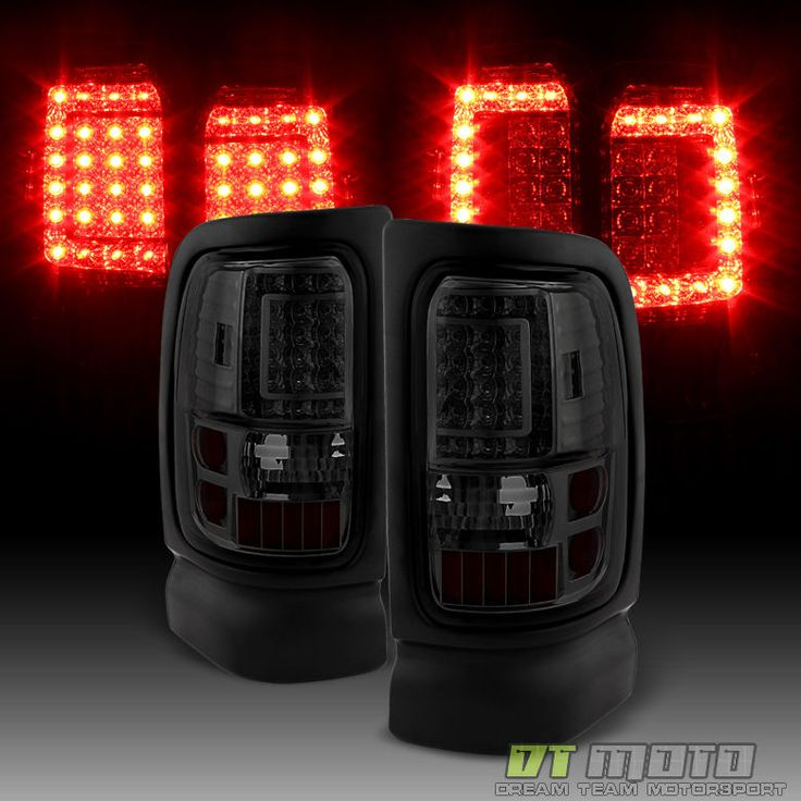 Smoke For 1994-2001 Dodge Ram 1500/2500/3500 LED Tail Lights Lamps Left+Right G2 #DTMOTO