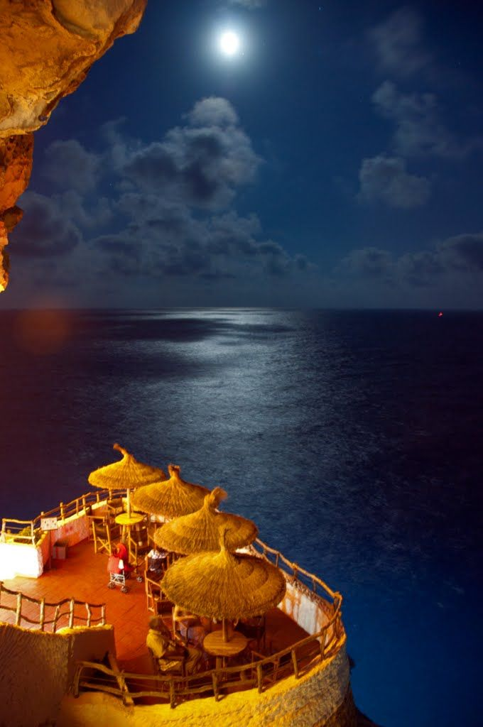 Cova d'en Xoroi, Alaior, Balearic Islands, Spain