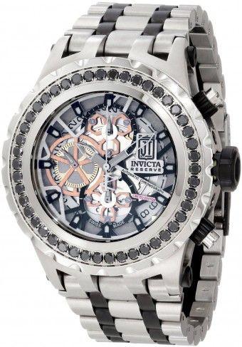 Invicta 12957 Jason Taylor Black Diamond Automatic Skeleton Watch For Men