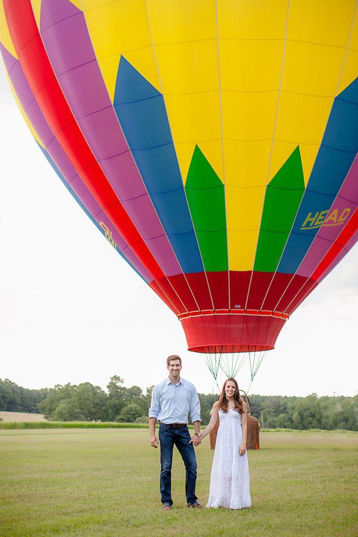 Hot Air Balloon Engagement Session   Photo: Eric Boneske