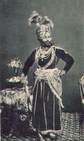 HH Raja Sir Ranjit Singh of Ratlam (1860-1893)