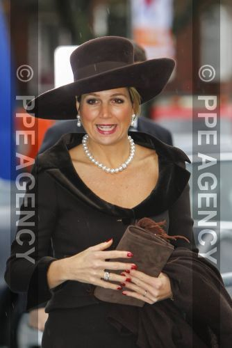 """Queen Máxima, December 12, 2014 in Fabienne Delvigne 