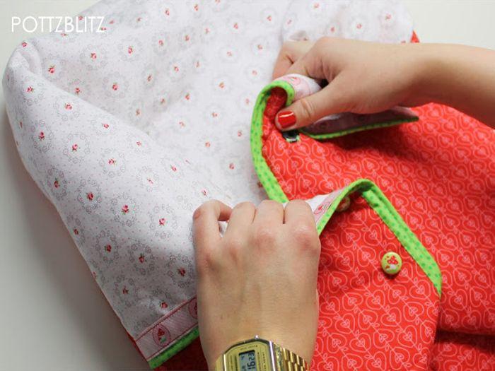 DIY: Mitwachsenden Schlafsack / Einschlagdecke nähen