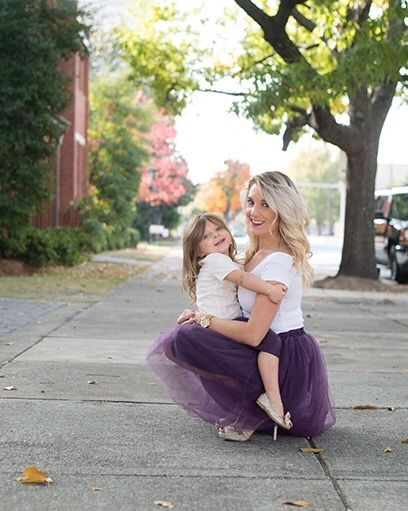Claire Mommy and Me Tulle skirts in Plum Purple (cestcany.com)