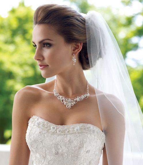 Fabulous Freshwater Pearl and Crystal Wedding Jewelry ne7825 at www.affordableelegancebridal.com