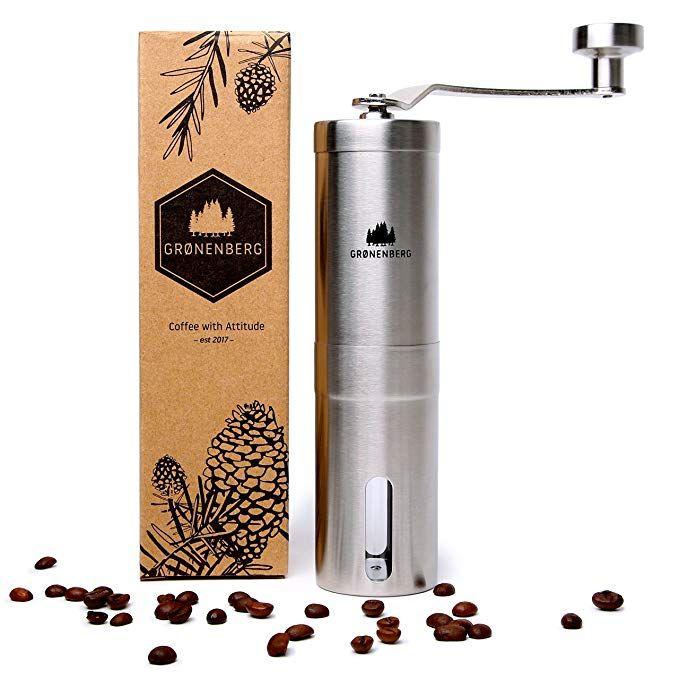 Manuelle stufenlose Kaffeemühle Edelstahl Espressomühle Handkaffeemühle L//P