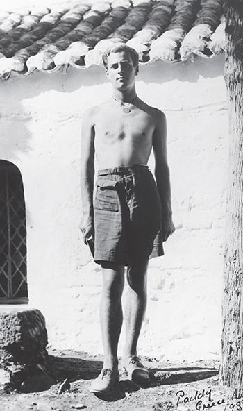 Patrick Leigh Fermor in Greece, at the end of his journey, in 1935.