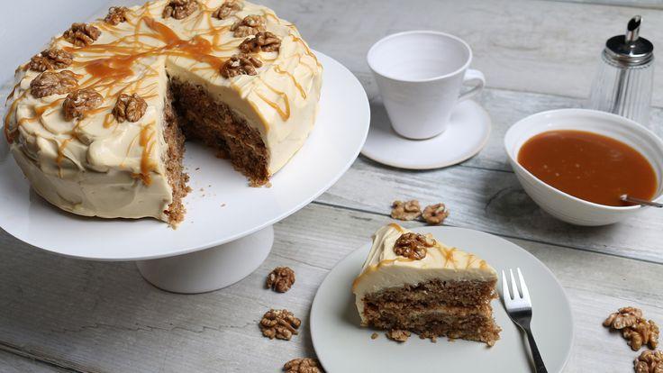 Apfel-Walnuss-Karamell-Kuchen   Rezepte   ARD-Buffet