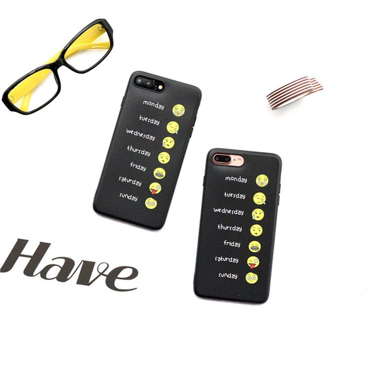 >> Click to Buy << Hot Funny Emoji Face Collection From Monday to Sunday Phone Case for iPhone 7 7plus 6 6s Plus Soft TPU Hipster Stylish Shell #Affiliate