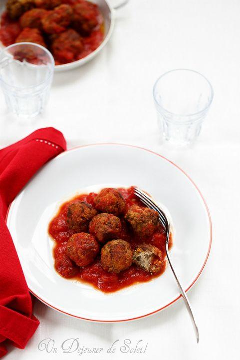 Polpette bouletets siciliennes à la sauce tomate