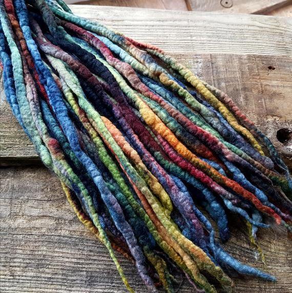 Felted Dreads Felt Dreadlocks Hippie Dreads Wool