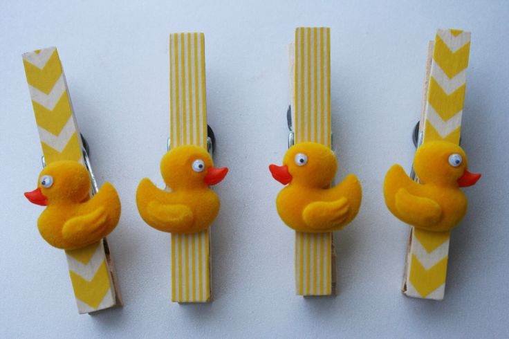 Rubber Ducky Baby Shower Banner Clips or Favors, Duckling Baby Gift, Baby Duck First Birthday Party Favor by TRIZIART on Etsy https://www.etsy.com/listing/182037154/rubber-ducky-baby-shower-banner-clips-or