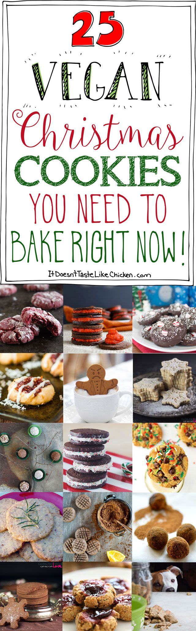 25 Vegan Christmas Cookies You Need To Bake Right Now! #itdoesnttastelikechicken