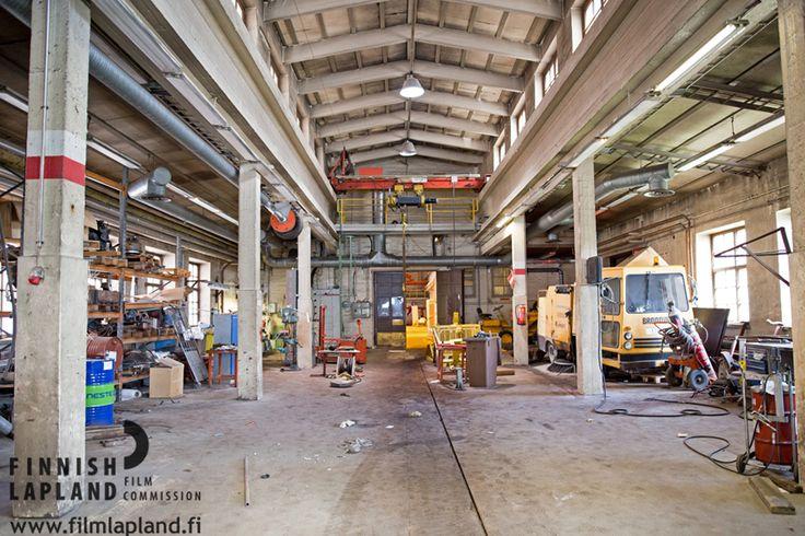 Stora Enso Veitsiluoto Factory premises, old buildings, Kemi, Finnish Lapland. Photo by House of Lapland. #filmlapland #articshooting #finlandlapland #industrial #factory #oldfactory