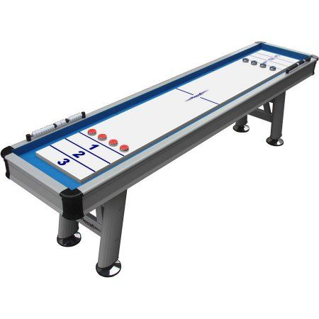 Playcraft Extera 12' Outdoor Shuffleboard Table with 20 inch Wide Playfield, Multicolor