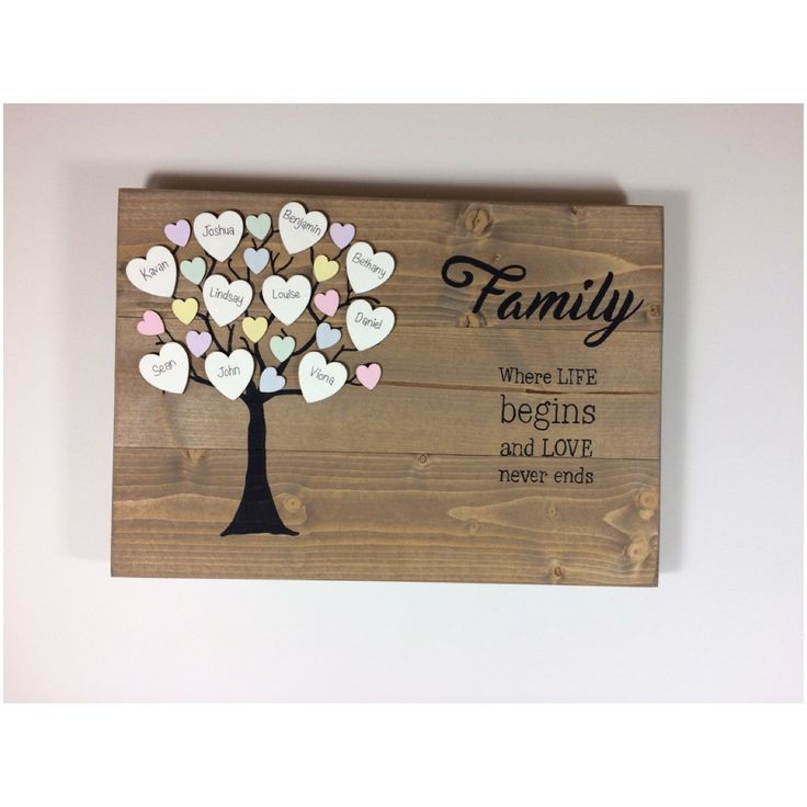 Family tree, wooden family tree, rustic, personalised, plaque, family tree gift, family keepsake, custom family tree, our family, pastle by OldPottingShed on Etsy