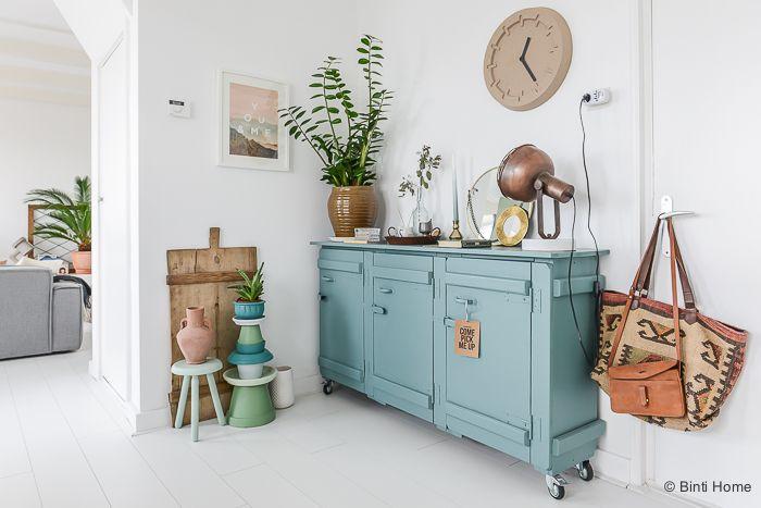 Shop my home | XL Hometour | Interieurinspiratie, woonideeën en stylingtips, cupboard turquoise, zuiver, interiorstyling