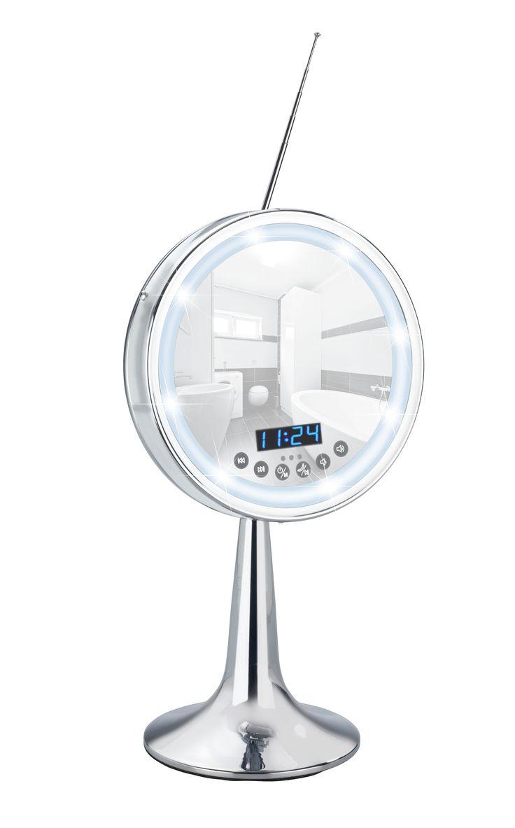 WENKO LED Kosmetik Standspiegel Imperial 3 Fach Vergrößerung Mit Bluetooth  Funktion USB Port Und Mikrofon Description: Perfekte Beleuchtung  Hochwertiger ...