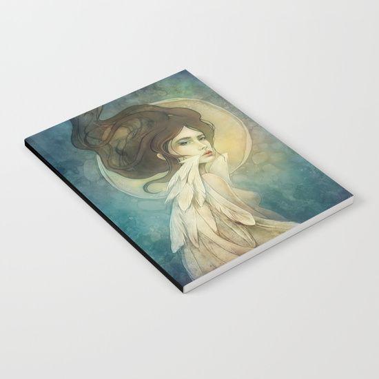 Angelic Notebook, angel fantasy portrait    art by strijkdesign