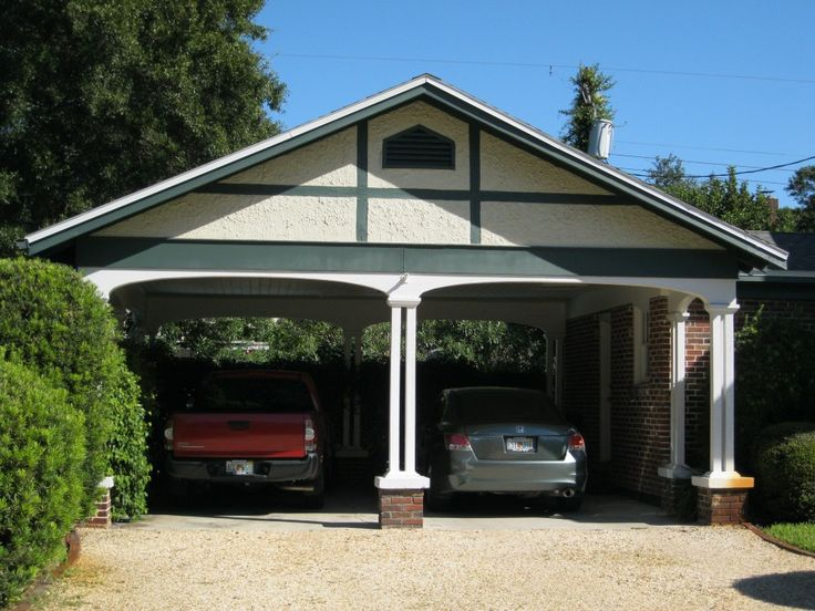 94 best images about carport on pinterest for Detached garage with carport
