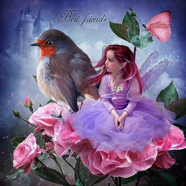 *+*Mystickal Faerie Folke*+*...Best Friends...By Artist Esther Puche...