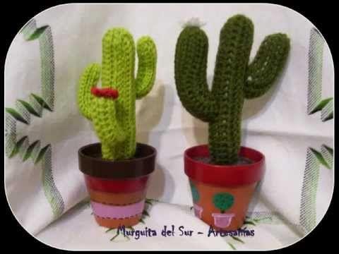 Cactus con flor grande tejido en crochet (amigurumi) - YouTube