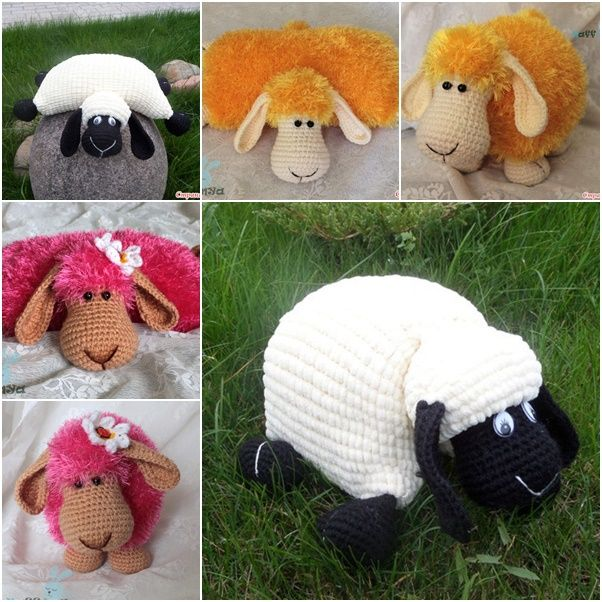 How adorable are these little lambs ! They are the cutest thing to cuddle with and they make the perfect pillow too! You can make them in any color combination you like.
