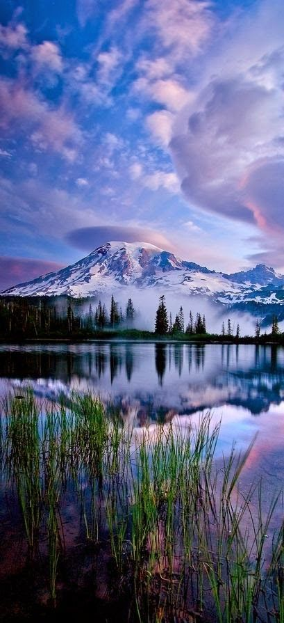 Reflections of Mt. Rainier in Washington http://cleartenphoto.blogspot.com/2014/07/amazing-world.html