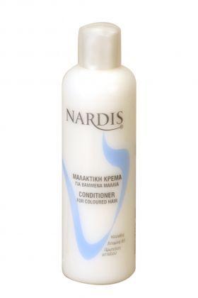 NARDIS Μαλακτική Για Βαμμένα Μαλλιά 1000ml Μαλακτική κρέμα για βαμμένα μαλλιά. Χάρις στα εκχυλίσματα ηλίανθου, βιταμίνης Β5 και πρωτεινών μεταξιού που περιέχει προστατεύει την τρίχα ενώ χαρίζει λάμψη και μεταξένια απαλότητα. Βοηθάει στο ξεμπέρδεμα των μαλλιών χωρίς να τα βαραίνει.Τιμή €3.95
