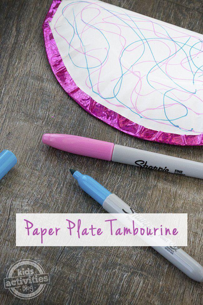 DIY Paper Plate Tambourine