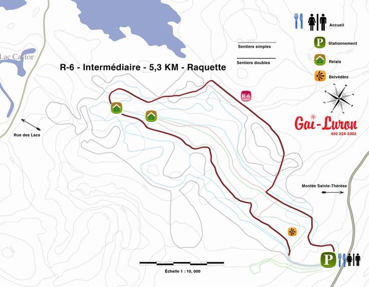 Sentier de raquette - R-6 (5,3 km) - Centre de ski de fond Gai Luron