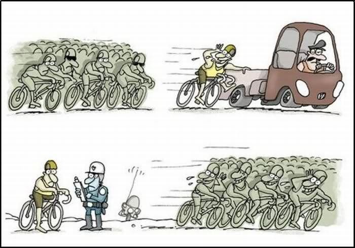 Charge piadas - O ciclista
