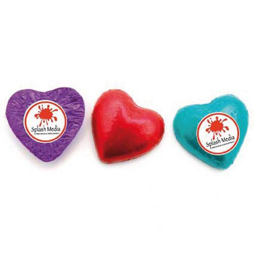 CHOCOLATE HEARTS with STICKER