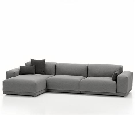 "Vitra Place Sofa, a Modern Sofa by Jasper Morrison - STU: ""nice shape, looks hard, needs color (pillows)?-WE REALLY LIKE THIS COUCH AND DESIGNER"