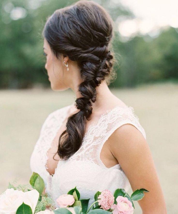 This twisted #chignon #bridal #braid is perfection! #weddinghair #hairinspiration | Photography: @tenthandgrace | Calligraphy: @seniman_calligraphy | Floral Design: @everlyalaineflorals | Hair  Makeup: @tracymeltonartistry | Wedding Dress: @patsysbridalboutique | Styling: @lindseyzamora #wedding #inspiration #repost