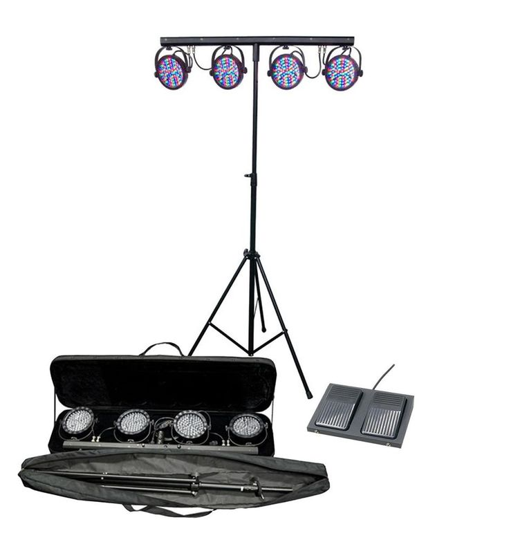 CHAUVET MINI-4BAR LED DJ Mobile Stage Wash Light System w/ Footswitch