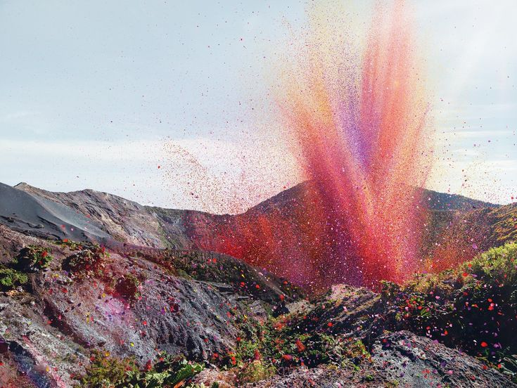 AMAZING: Flower Petals Explode Like A Volcano Over Town In Costa Rica